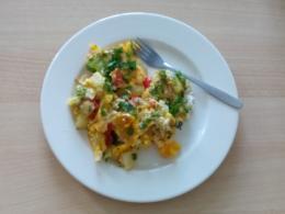 Frittata mit Spinat und Paprika